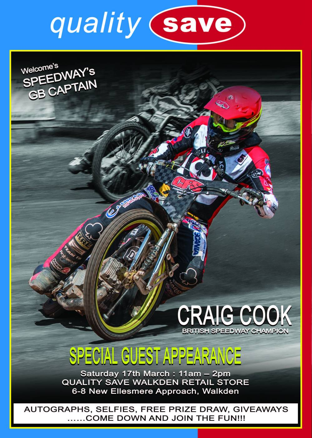 Special Guest Appearance – GB Speedway Captain